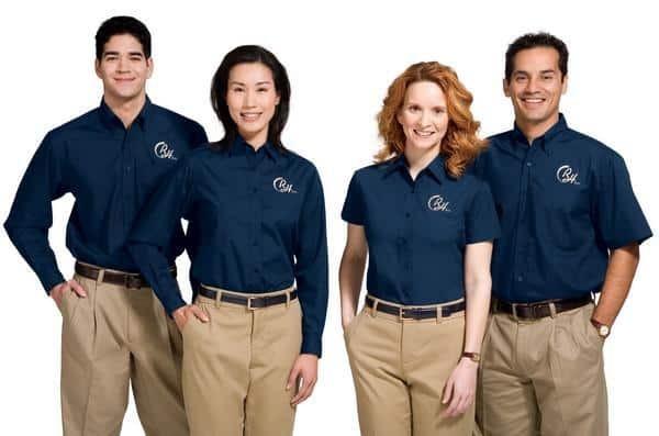 Đồng phục phải thích hợp với toàn bộ nhân viên doanh nghiệp
